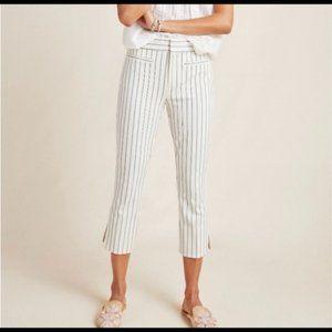 Essential Slim Anthropologie Capri Striped Pants